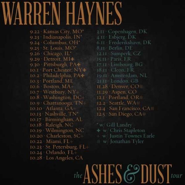 Warren Haynes Ashes And Dust : warren haynes ashes dust tour jeff sipe apt q 258 ~ Hamham.info Haus und Dekorationen